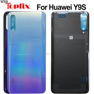 Image 1 - Original Back Cover Case Back Battery Cover Housing For Huawei Y9s Back Cover P smart Pro 2019 Battery Back Rear Glass Cover