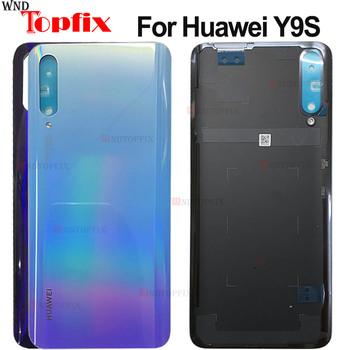 Oryginalna obudowa tylnej pokrywy tylnej obudowy baterii dla Huawei Y9s tylna pokrywa P smart Pro 2019 tylna pokrywa baterii tylnej szyby tanie i dobre opinie WNDTOPFIX CN (pochodzenie) Glass For Huawei Y9S For Huawei Y9S Battery Cover Housing 100 QC and Warranty Black Sky Blue Purple