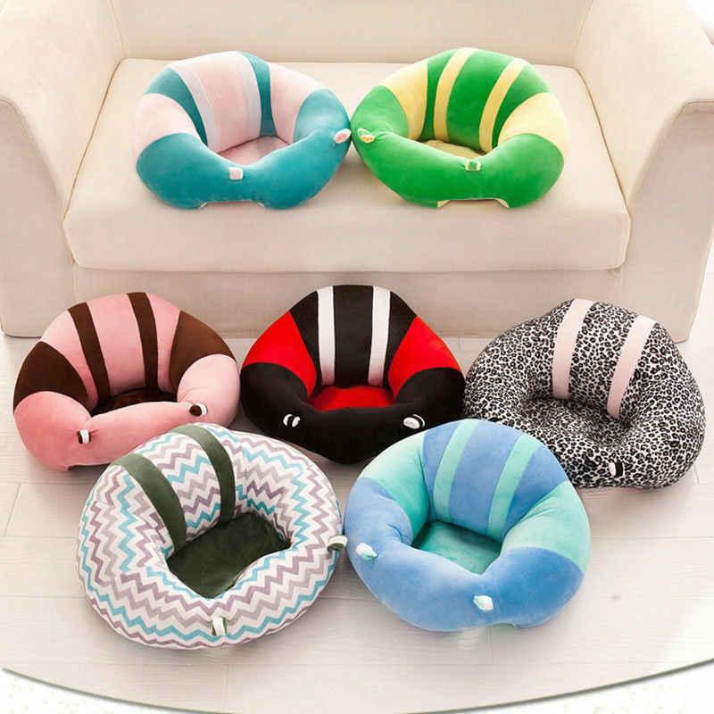 2019 nuevo asiento de apoyo para bebés y niños pequeños asiento de silla suave cojín sofá almohada de felpa bolsa de frijol animal sofá asiento