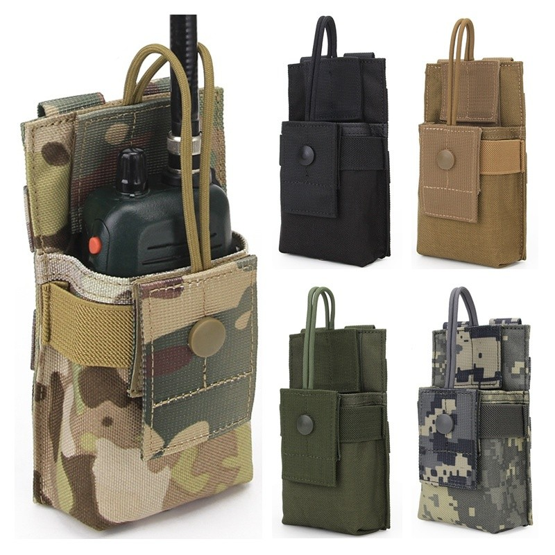 2019 Military Tactical Radio Phone Pouch Molle Clip Holster Airsoft Paintball Hunting Waist Belt Bags Walkie Talkie Holder Bag