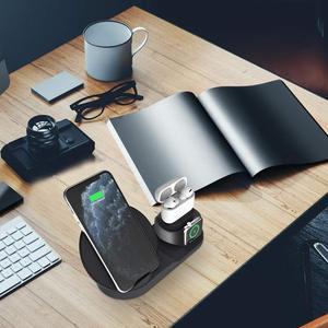 Image 5 - Bezprzewodowa ładowarka Qi 10W 3 W 1 stojak do bezprzewodowego ładowania stacja dokująca do Airpods Pro Iphone 11 Pro Max XR 8 X Apple Watch 5 4 3 2