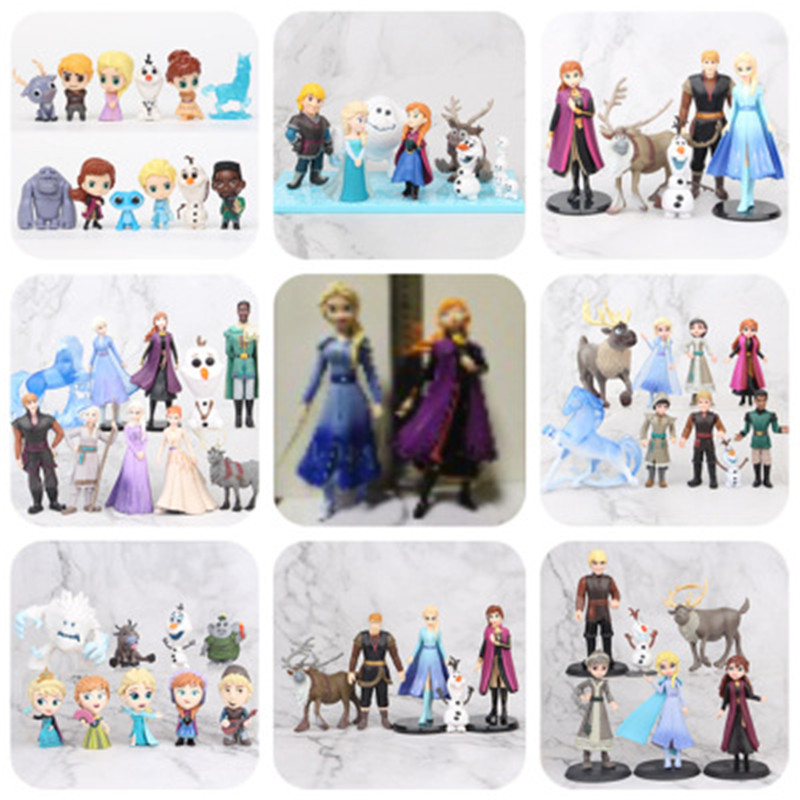 Disney congelado 2 neve rainha elsa anna pvc figura de ação olaf kristoff sven anime bonecas figurinhas crianças brinquedo presente modelo|Figuras de ação|   -