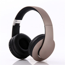 rose gold wireless bluetooth earphones stereo foldable headphones over ear headset TF card with microphone for phone