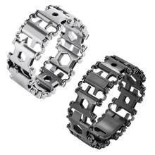 29 em 1 edc multifuncional pulseira de aço inoxidável multi-ferramenta para acampamento ao ar livre caminhadas multitool
