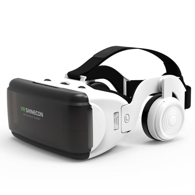 VR SHINECON G06E Mini VR Glasses 3D G 06E Glasses Virtual Reality Glasses VR Headset For Google cardboard with headphone 3