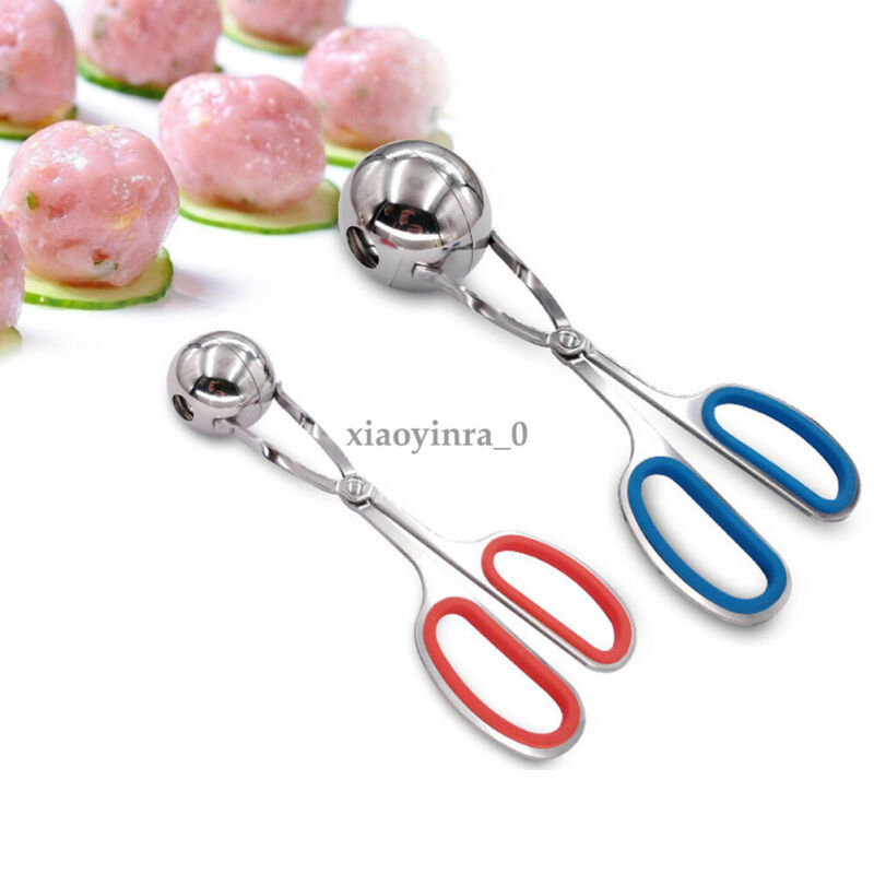 Eco-Friendly Stainless Steel Stuffed <font><b>Meatball</b></font> Clip Non-Stick <font><b>Maker</b></font> Mold Kitchen Cooking Tools wholesale Kitchen Tools Gadgets image