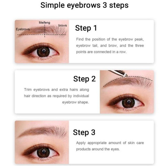 1PC Electric Eyebrow Trimmer Pen Shape Face Eyebrow Hair Remover Mini Eyebrow Shaver Razor Instant Painless Portable Epilator 5
