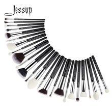 Jessup кисти для макияжа 25 шт черный/серебристый Синтетический