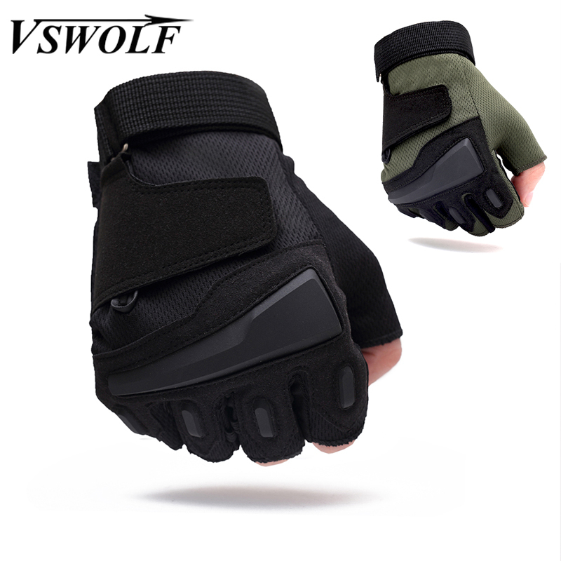 Military Tactical Gloves Half Finger SWAT CS Gloves Gym Fitness Shooting Paintbal Combat Gloves Outdoor Sport Riding Bicycle