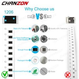 100 шт. SMD 1206 Резисторы 0 Ом 10 м Ом 1/4 Вт 1% Высокоточный пленочный чип с фиксированным сопротивлением 0,01 0,22 4R7 100 220 330 1K 10K 300K|Резисторы|   | АлиЭкспресс