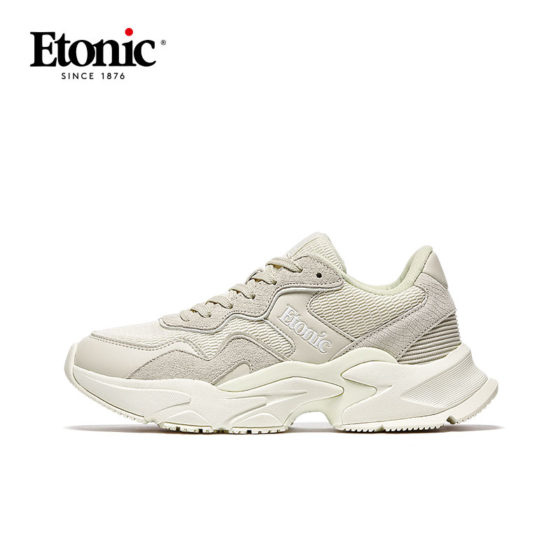 ETONIC Dad Shoes Men Retro Chunky Sneakers Breathable Light Running Shoes Man Nonslip Shockproof Sports Platform Chunky Shoes