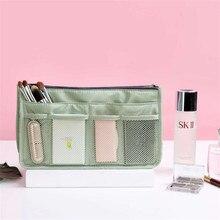 Fashion Waterproof Cosmetic Bag Double Zipper Makeup Organizer Bag, Personal Travel Cosmetic Storage Bag Wash Bag