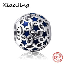 New arrival Silver 925 Beads stars hollow charms beads DIY color enamel Jewelry Making Gifts Fit Original European Bracelets