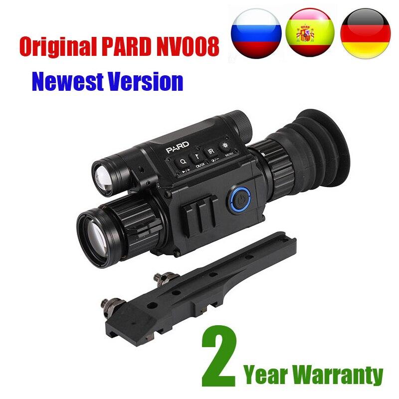 PARD NV008 Infravermelho Alcance de Visão Noturna Wifi APP 6.5-12X 5w 850nm IR night Vision Riflescope NV Monocular ajustável Picatiny