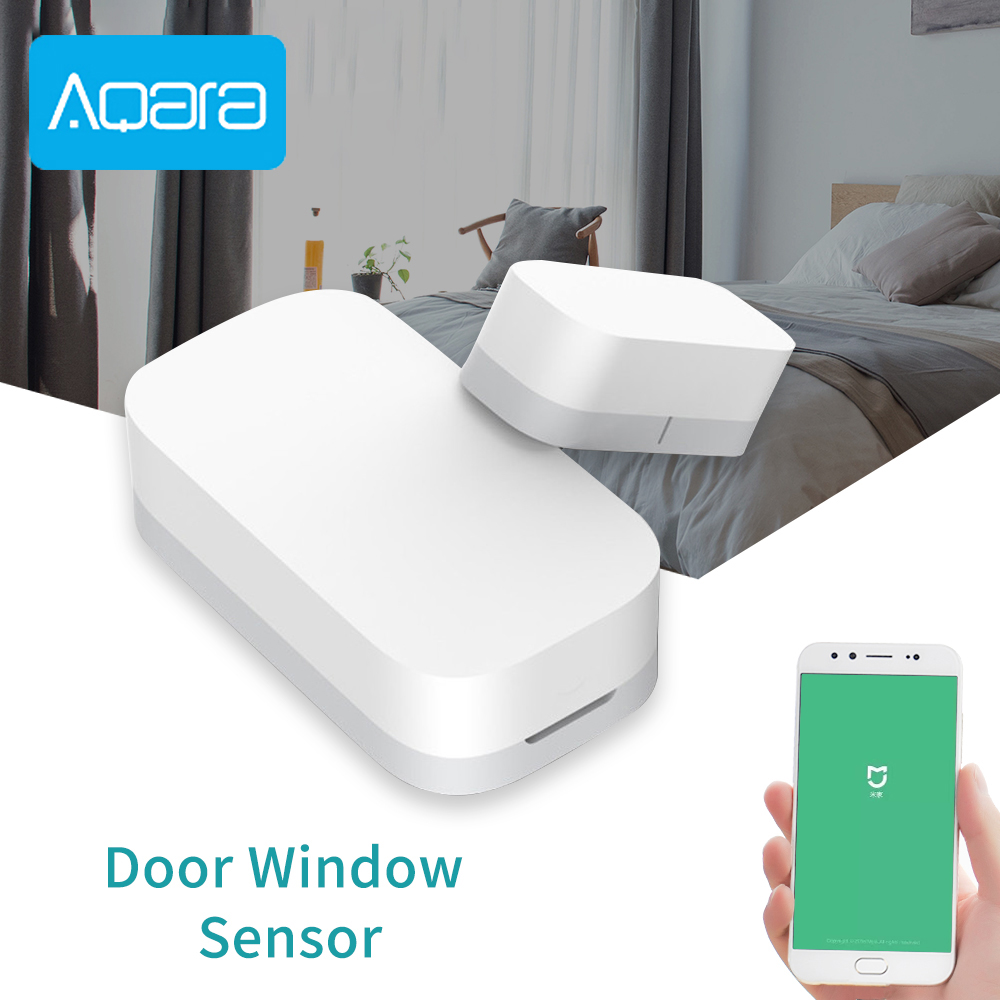 Aqara Door Window Sensor Detector Zigbee Wireless Connection Security Alarm System Suite Work With Mi App For Android IOS Phone