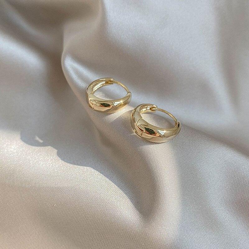 XIYANIKE-boucles d'oreilles en argent Sterling 925, boucles d'oreilles en cercle en Arc, tendance, rétro, Simple et Sexy, exquis pour Couple, cadeau de saint-valentin 3