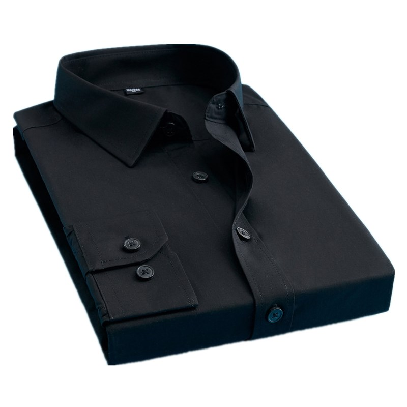 BOLUBAO Brand Men Casual Shirts Fashion Solid Color Shirt Long Sleeve Slim Fit Business Shirts Mens Clothing Male Tuxedo Shirt Pakistan