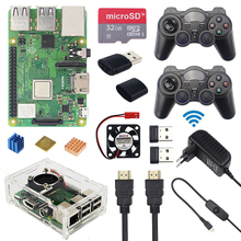 Raspberry Pi 3 Model B + Game Kit + Draadloze Gamepads + 32Gb Sd-kaart + Power Adapter + hdmi | Ondersteuning Retropie Recallbox