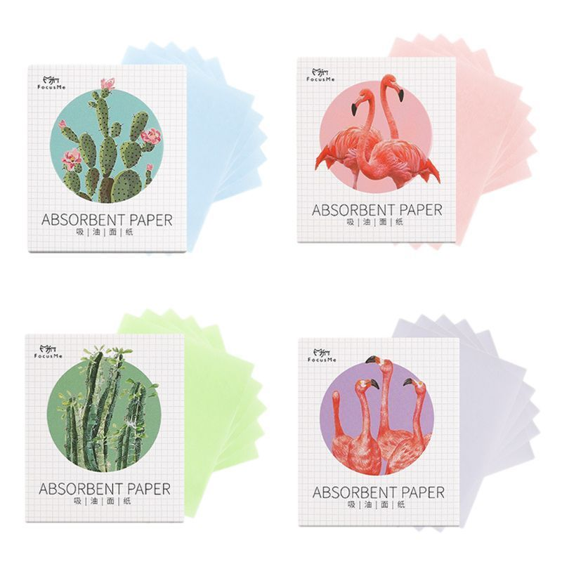 4bag 200Pcs Facial Oil Blotting Papers Oil Absorbing Sheets Face Cleanser Acne Treatment Deep Cleansing Oil Control Make Up Tool