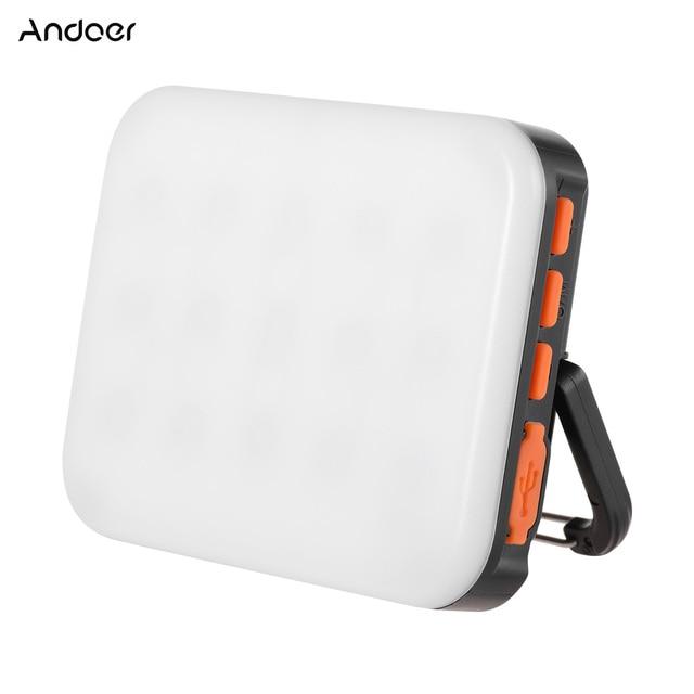 Andoer LY 01 RGB LED Fill Light Photography Lamp Multi functional Superbright 3200K 6500K Built in Battery Black