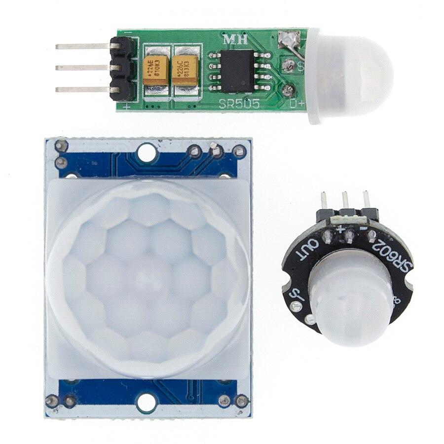 HC-SR501 SR505 SR602 Adjust IR Pyroelectric Infrared PIR Motion Sensor Detector Module