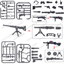 Military ww2 Weapons Light Machine Gun Rocket Launcher Assemble Building Blocks Figures Armaments Special Police Christmas Toyss