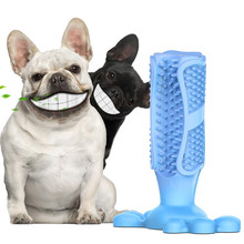 Dog Toothbrush Stick Puppy Dental Care Brushing Stick Doggy Teeth Cleaning Massager Bite Resistant Chew Toys for Small Pets
