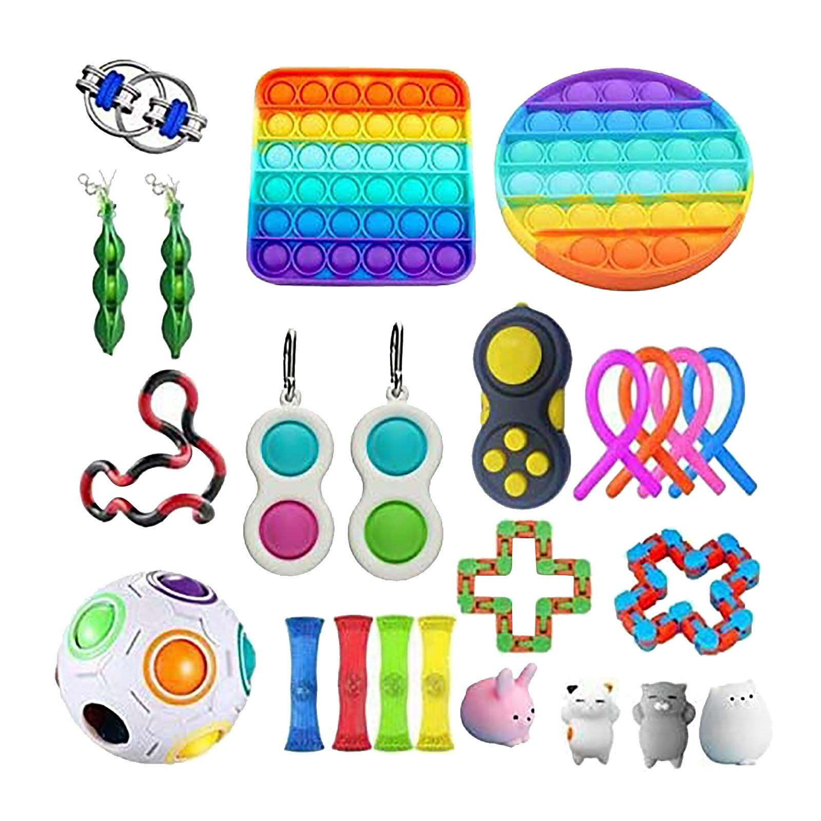 Push Bubble popit Autism New Fidget Toys Special Needs Stress Reliever Helps Relieve Stress and Increase Focus Soft Squeeze Toy img5