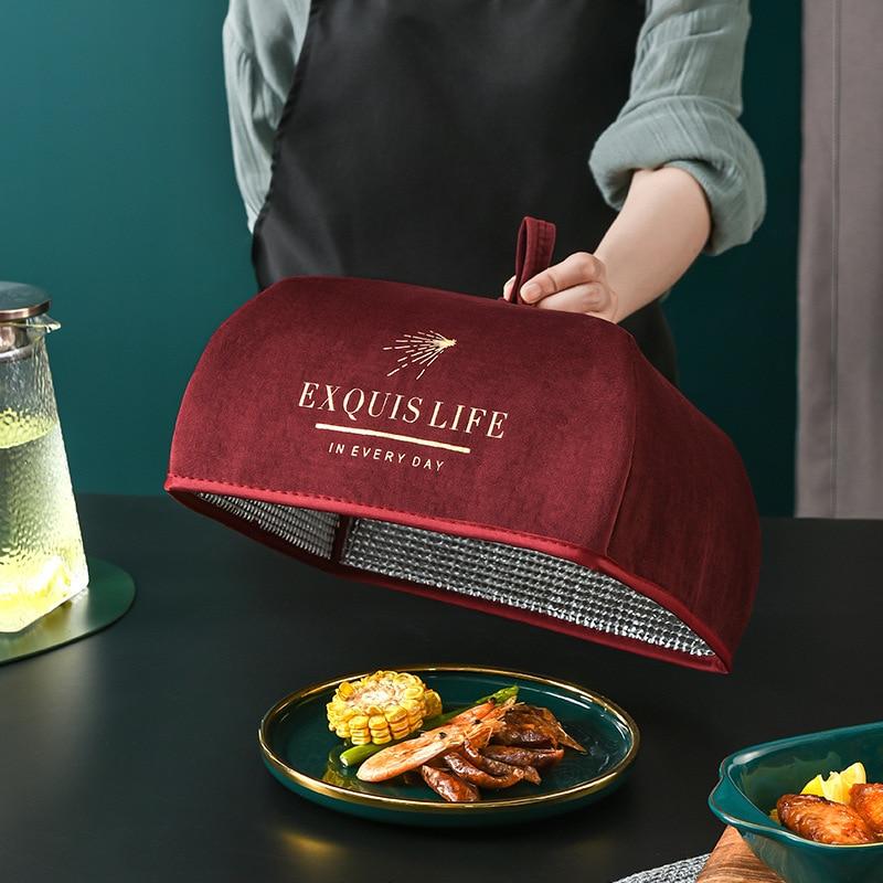 Кухонные аксессуары, крышка, бытовой складной и удобный в хранении чехол для обеденного стола, крышка для еды, устойчивая к летанию, сохраняющая свежесть