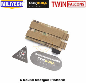 Image 2 - MILITECH TWINFALCONS TW 500D Delustered Cordura Molle 6 Rounds Buck Shotgun Shell Platform Ammo Pouch Elastic Band Ammo Base