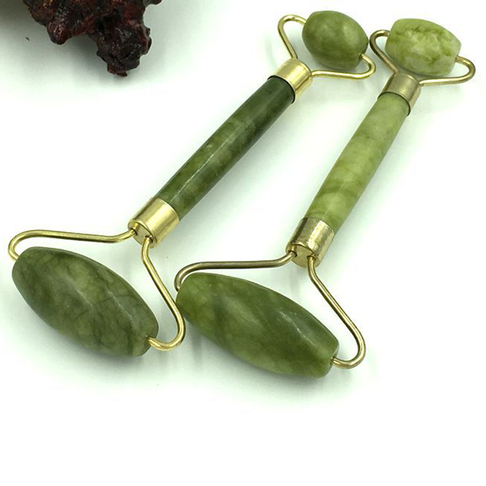 Facial Massage Jade Roller Double Heads Jade Stone Face Lift Hands Body Skin Relaxation Slimming Beauty Skin Care Tool