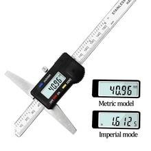 Calibro a corsoio calibro elettronico digitale 0 150mm micrometro strumenti di misurazione automatica con misuratore di profondità LCD bilancia digitale righello