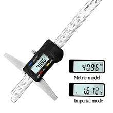 Sürmeli kumpas dijital elektronik göstergesi 0 150mm mikrometre otomatik ölçüm araçları derinlik göstergesi LCD dijital ölçekli cetvel