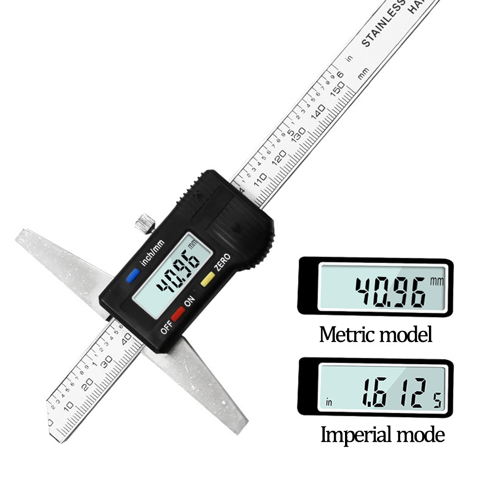Vernier Caliper Digital Electronic Gauge 0-150mm Micrometer Auto Measuring Tools With Depth Gauge LCD  Digital Scale Ruler