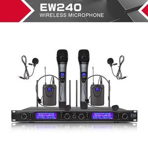 Image 3 - XTUGA EW240 4 Canali Sistema di Microfoni Senza Fili UHF Sistema di Karaoke Senza Fili 4 Microfono palmare per la Fase Chiesa Uso per il Partito