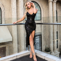 Black Dress Sexy Women Night Club Celebrity Party Dress Mini Bodycon Elegant Dresses Summer PC