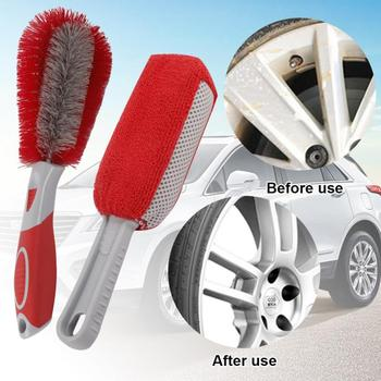 Car Accessory Car Wheel Brush Rim Cleaning Tool Car Tire Cleaning Brush Black Car Repair And Maintenance Auto Parts 24.52*5.8*3 image