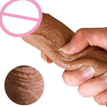 7/8 Inch Huge Realistic Dildo Silicone Penis Dong with Suction Cup for Women Masturbation Lesbain Sex Toy