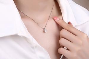 Image 5 - Poésie de juif magasin rond argent Moissanite pendentifs 1ct D VVS luxe Moissanite mariage pendentifs pour les femmes