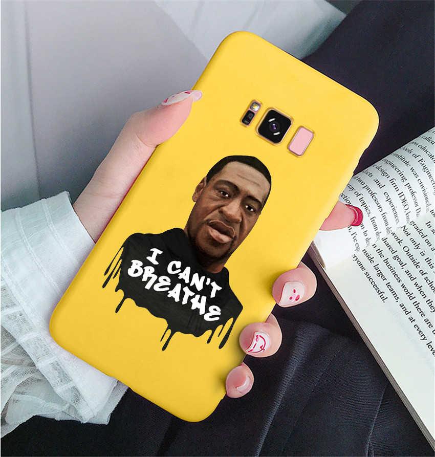 Adalet GEORGE FLOYD gömlek kılıf kapak için Samsung Galaxy s20 Ultra s10 A50 A10 A20 A30 A70 A51 A71 I CAN'T nefes kapak