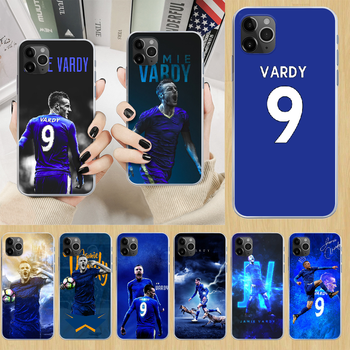Jamie Vardy soccer football Phone Case cover For iphone 5 5S 6 6S PLUS 7 8 12 mini X XR XS 11 PRO SE 2020 MAX transparent cover image