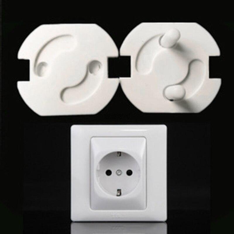 Enchufe de alimentación de la UE de 1/5 Uds., clavijas antidescargas eléctricas, Protector de seguridad para bebés y niños, TXTB1