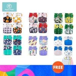 HappyFlute 24 windeln + 24 Einsätze Baby Tuch Windeln One Size Einstellbare Waschbar Reusable Tuch Windel Für Baby Mädchen und jungen