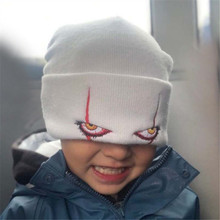 Effrayant il terreur yeux Joker chapeau mode Cosplay tricoté chapeau garder au chaud laine casquette Clown broderie chapeau Halloween