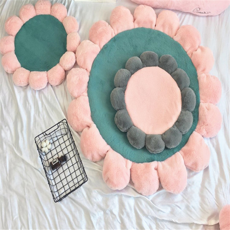 Free Shipping Round Fashion Flower Carpet Living Dining Kids Bedroom Anti Skid Cartoon Carpet Bathroom Rugs And Mats In Rug From Home Garden On Aliexpress Com Alibaba Group