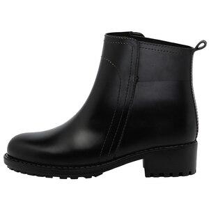 Image 2 - DRIPDROP נשים של קצר מגפי החלקה עמיד למים אופנה גשם נעלי נשי קרסול צ לסי גשם מגפי נעלי נשים