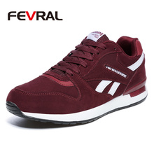 FEVRAL Mens Leather Sneakers Unisex Autumn Casual Trainers Breathable Outdoor Walking Shoes Light Men Winter Warm Sport Shoes