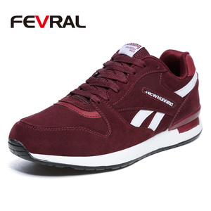 Image 1 - FEVRAL Mens Leather Sneakers Unisex Autumn Casual Trainers Breathable Outdoor Walking Shoes Light Men Winter Warm Sport Shoes