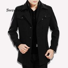 2020 new men's coat wool overcoat winter coat men cashmere male winter thickening long keep warm coat
