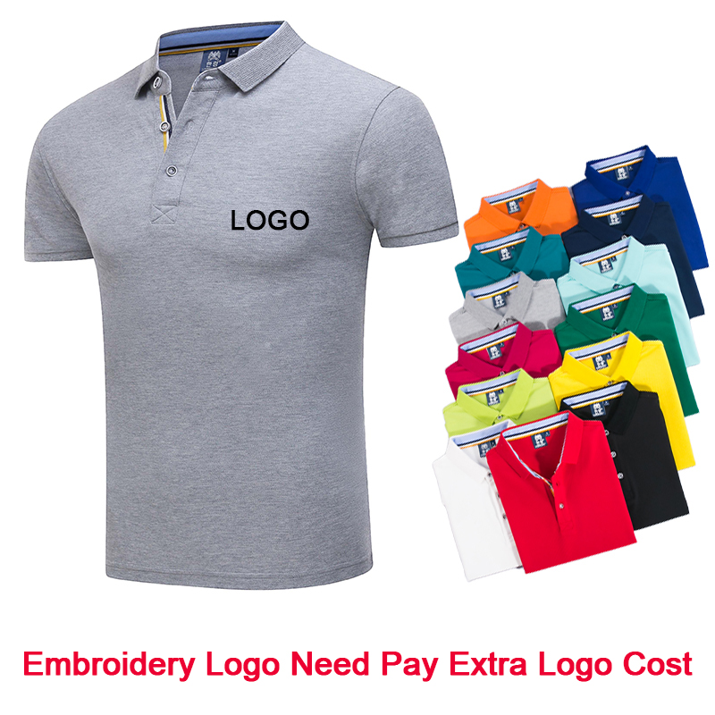 Polo Shirts Customized Embroidered Logo Custom Ladies Fit Solid ...